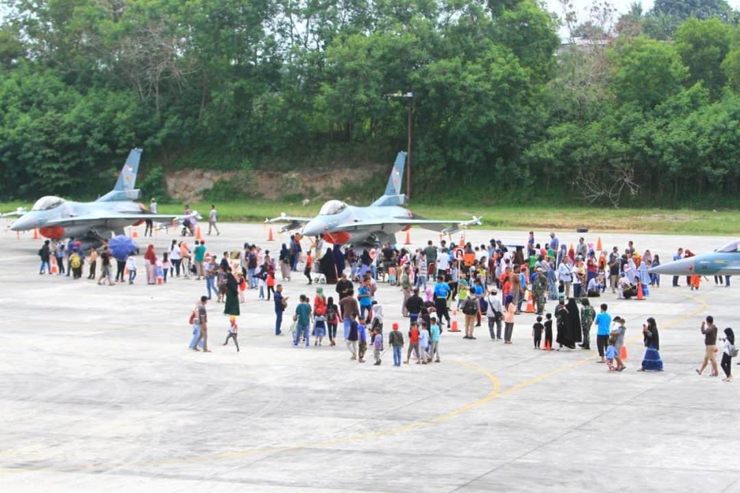 Event Open Base dan Static Show Lanud Dhomber Menambah Wawasan Masyarakat pada Militer Udara