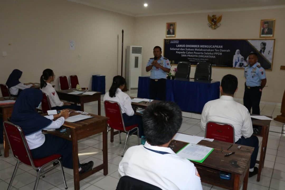 Sebanyak 21 orang Calon Siswa-Siswi SMP se Kalimantan Timur yang Telah Terverifikasi Ikuti Seleksi (PPDB) SMA Pradita Dirgantara Di Lanud Dhomber