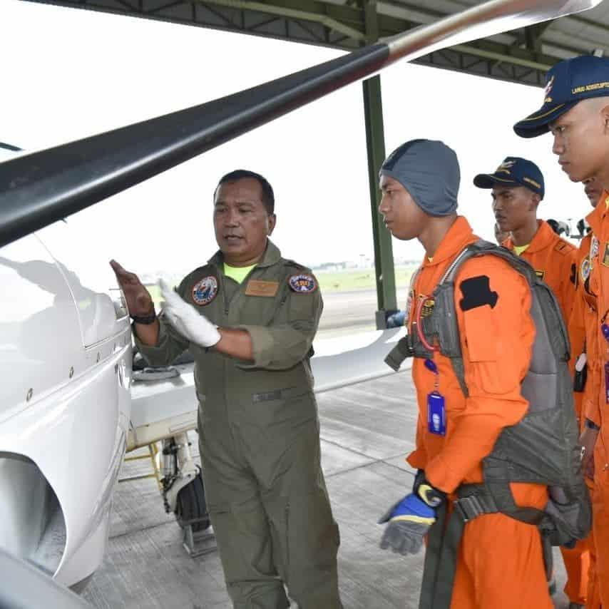 Danlanud Tinjau Pelaksanaan Bina Terbang Siswa Sekolah Penerbang Angkatan 98