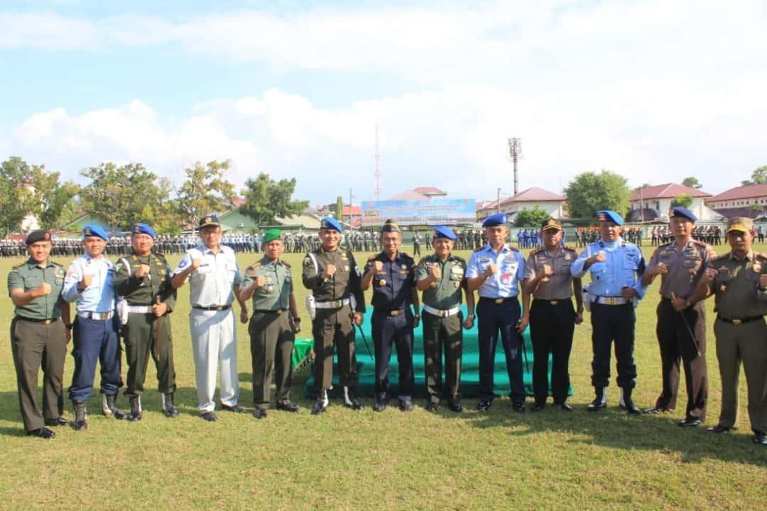 Prajurit Polisi Militer Angkatan Udara (POMAU) Lanud Maimun Saleh Ikuti Upacara Pembukaan Gaktib Yustisi TA 2020 Di Neuse Jasdam IM.