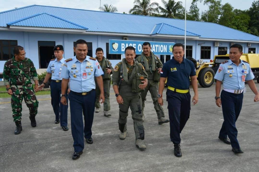 Usai Jalankan Tugas, Tiga F-16 Tinggalkan Kota Balikpapan Kembali Ke Home Base