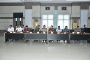 Marsda TNI Dr. Sungkono, SE, M. Si, adakan audensi dengan Forkopimda kota Sabang.