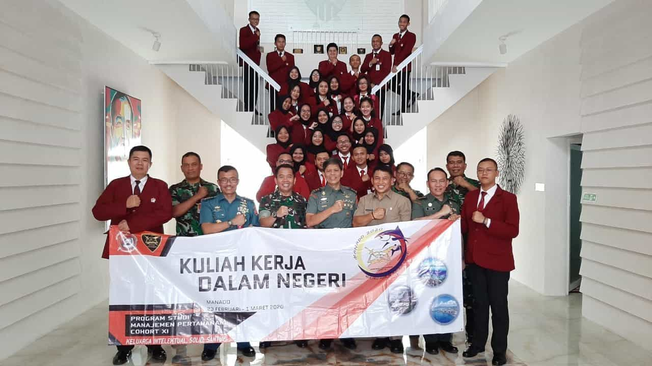Danlanud Sam Ratulangi Terima Kunjungan Mahasiswa Unhan