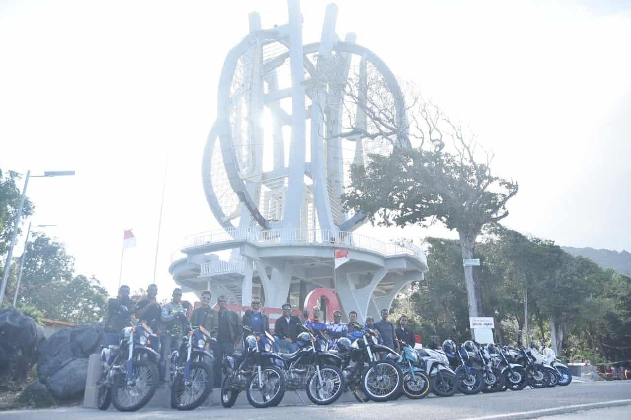 Touring Safety Riding, Bersama Keluarga Besar Lanud Maimun Saleh, Satrad 233 Sabang.