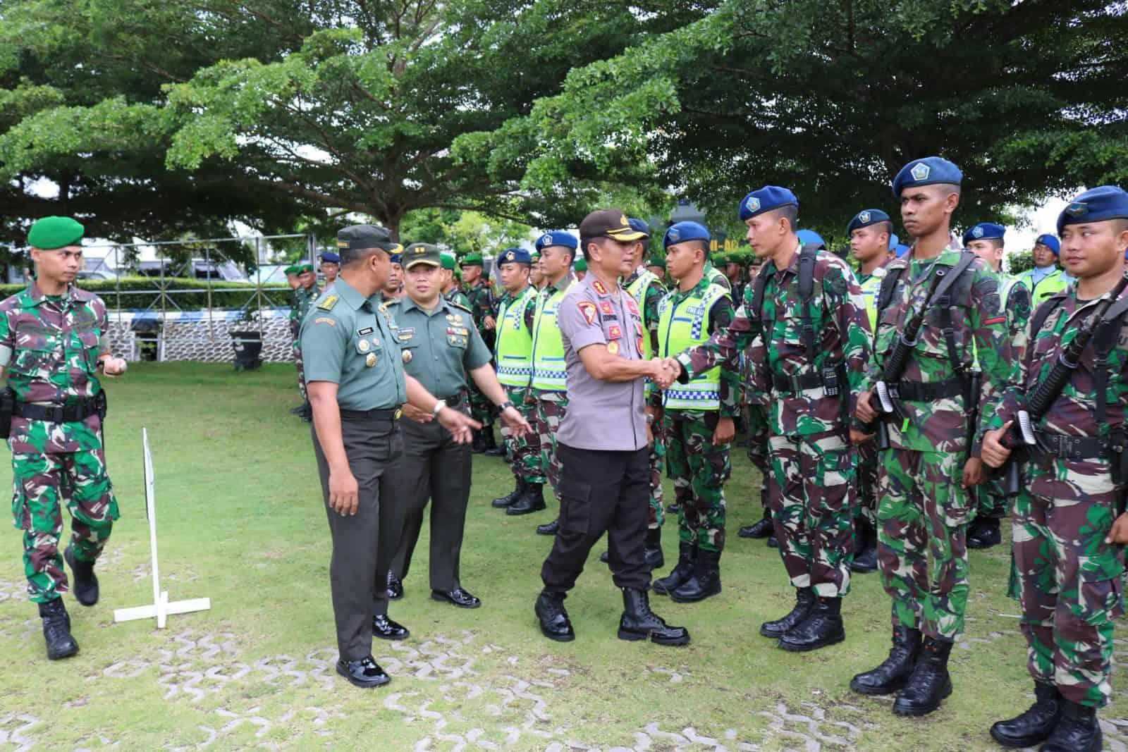 Upacara Gelar Pasukan Pengamanan RI 1 Wilayah Kalimantan Selatan