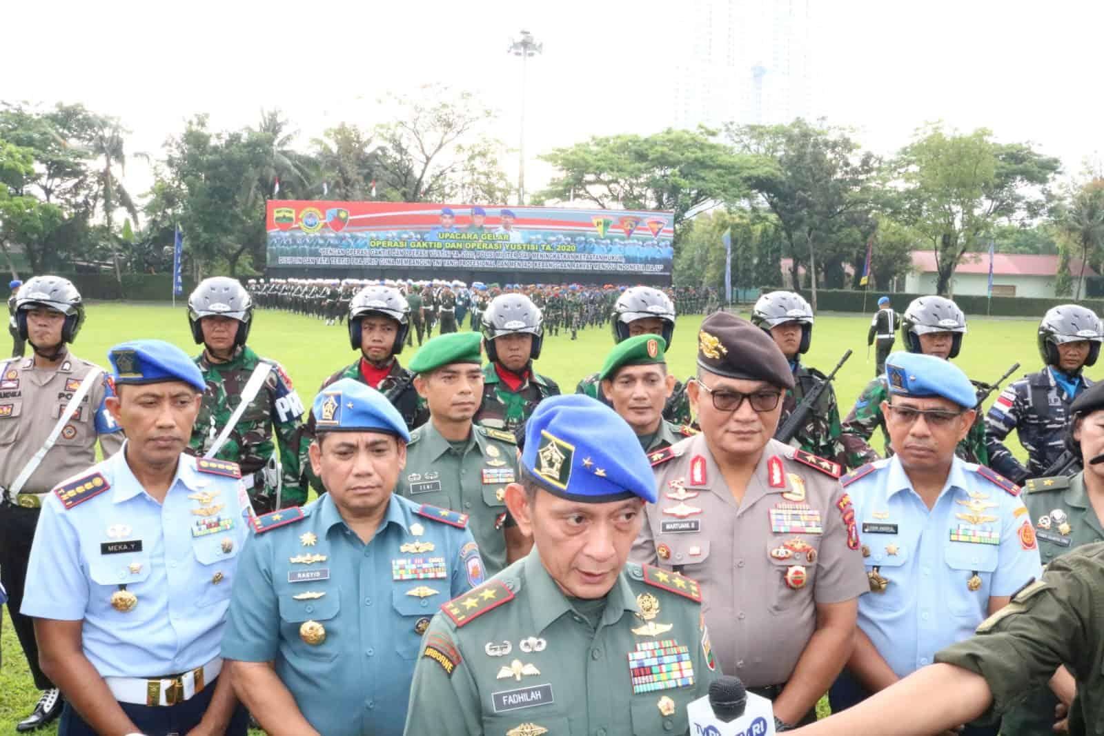 Panglima Kosekhanudnas III Hadiri Pembukaan Opsgaktib dan Yustisi Gabungan TA.2020