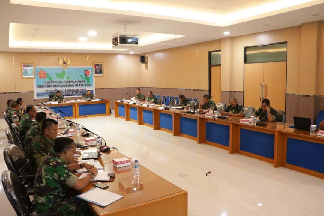 Rentinkon Kotamaops TNI Tahun 2021 Telah Terlaksana di Koopsau lll