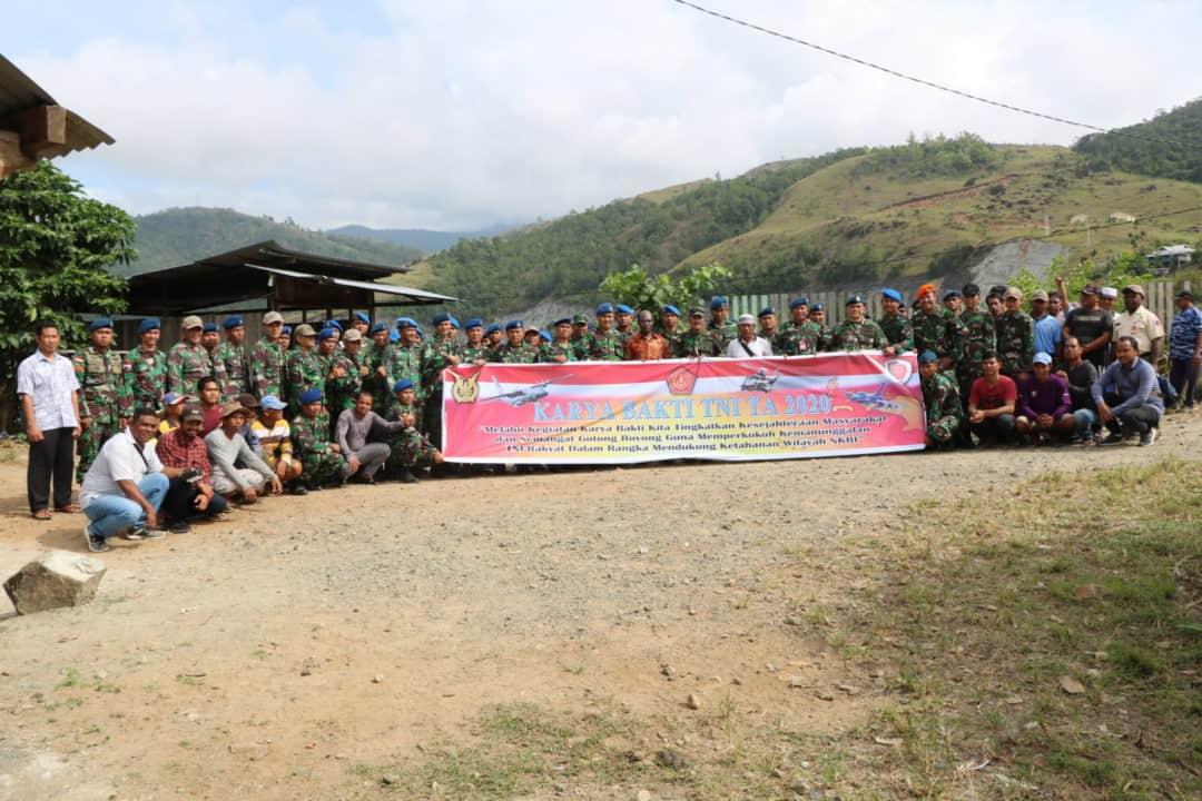Komandan Lanud Silas Papare Buka Karya Bhakti Tahun 2020