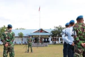 Danlanud SIM Pimpin Upacara Bendera Mingguan Akhir Bulan Februari 2020 di Mako Lanud SIM