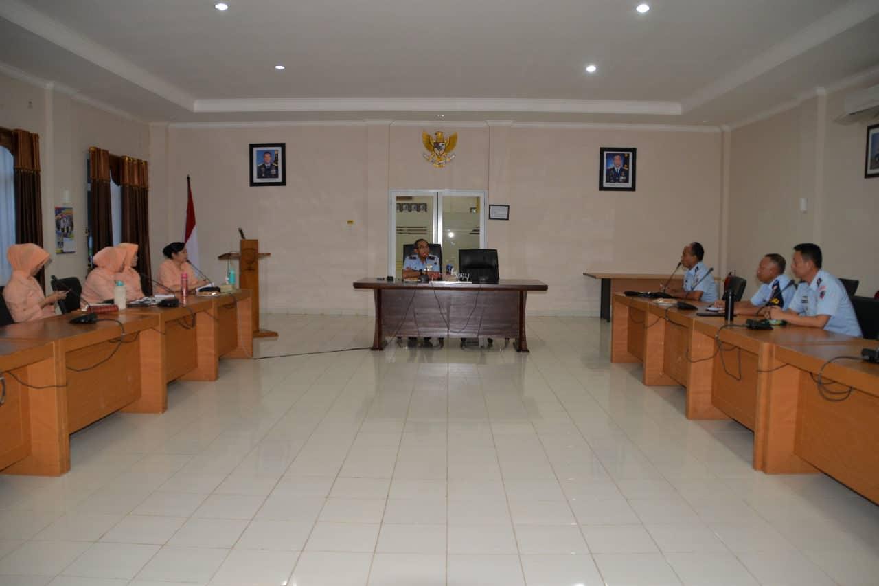 Danlanud Suryadarma Pimpin Rapat Seleksi Daerah PPDB SMA Pradita Dirgantara
