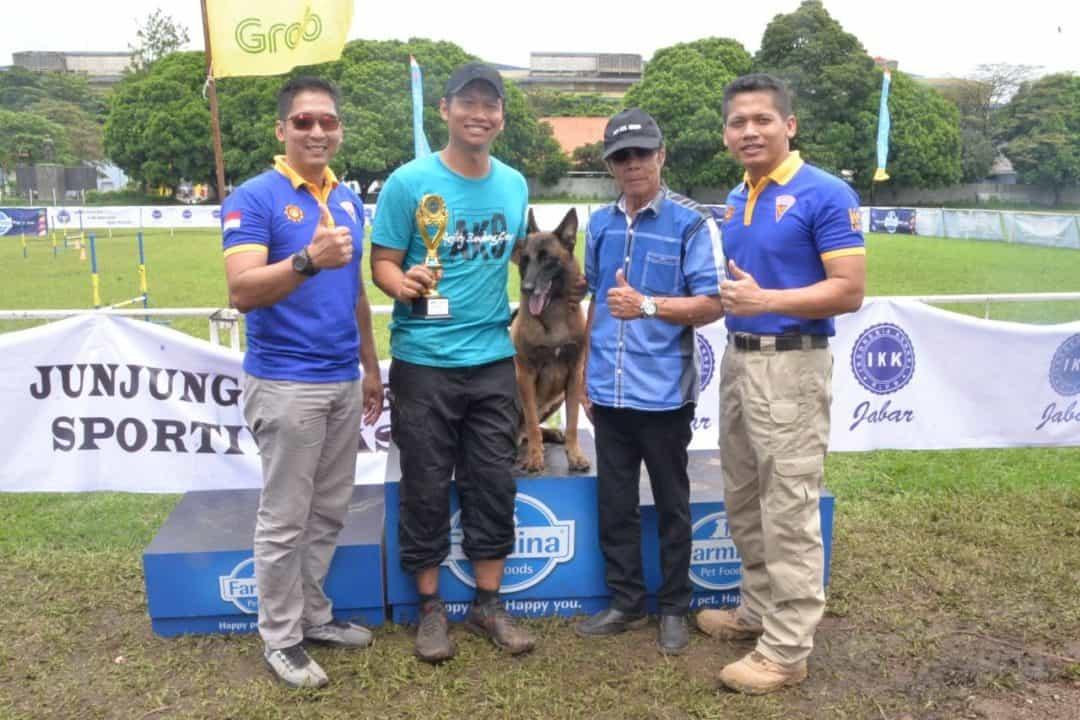Dog Training Cup Meriahkan Hut Ke-54 Brigan Satpomau Lanud Huaein Sastranegara