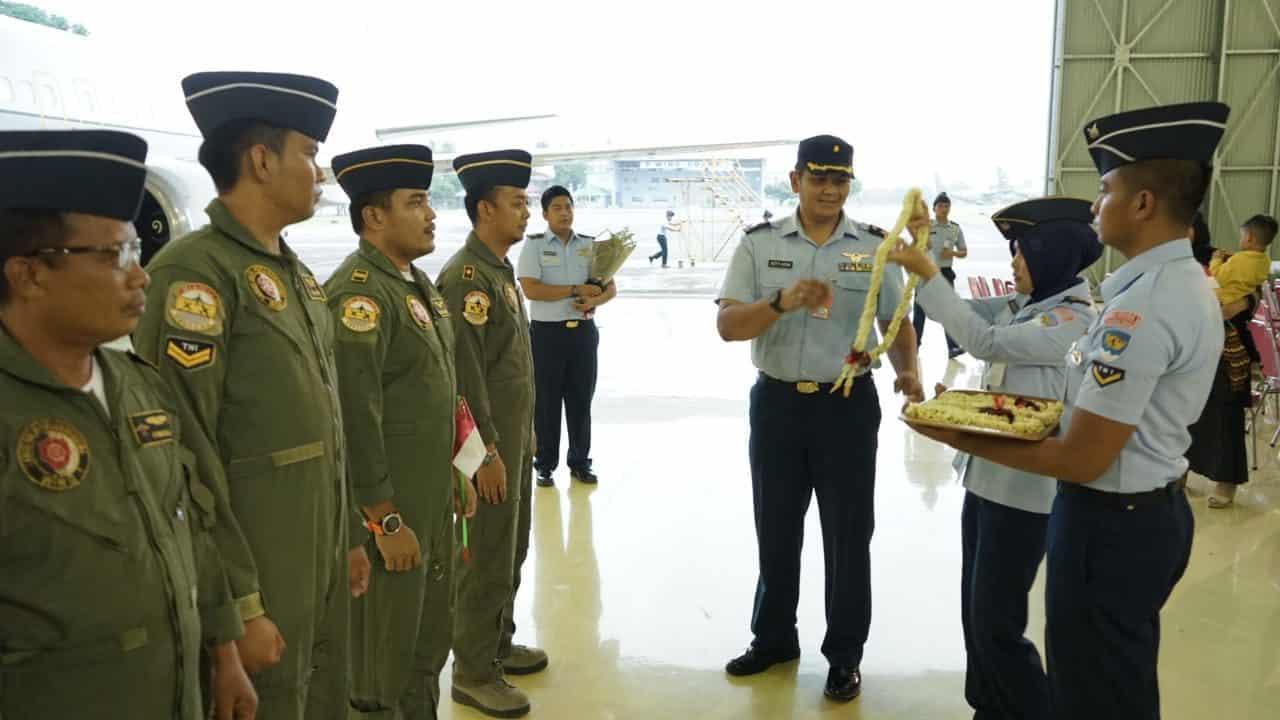 Pasca Observasi, 7 Crew Skadron Udara 17 Kembali ke Home Base