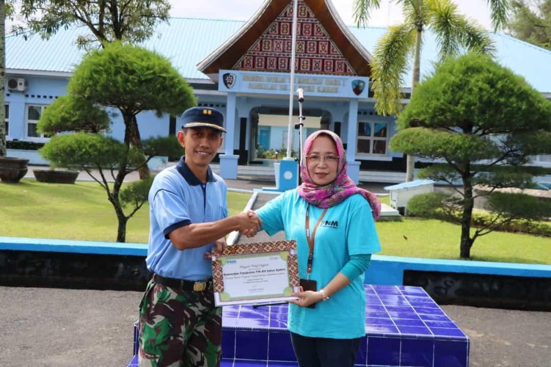 Karyawan PNM Kota Padang Terima Materi Pelatihan Leadership Di Lanud Sutan Sjahrir