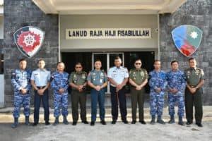 Danlanud RHF Sambut Kunjungan Staf Ahli Panglima TNI di Lanud RHF