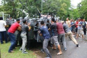 Aksi Demonstrasi di Lanud Iswahjudi