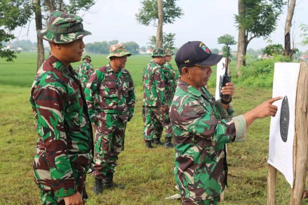Lanud Sugiri Sukani Laksanakan Latihan Menembak Triwulan I Tahun 2020
