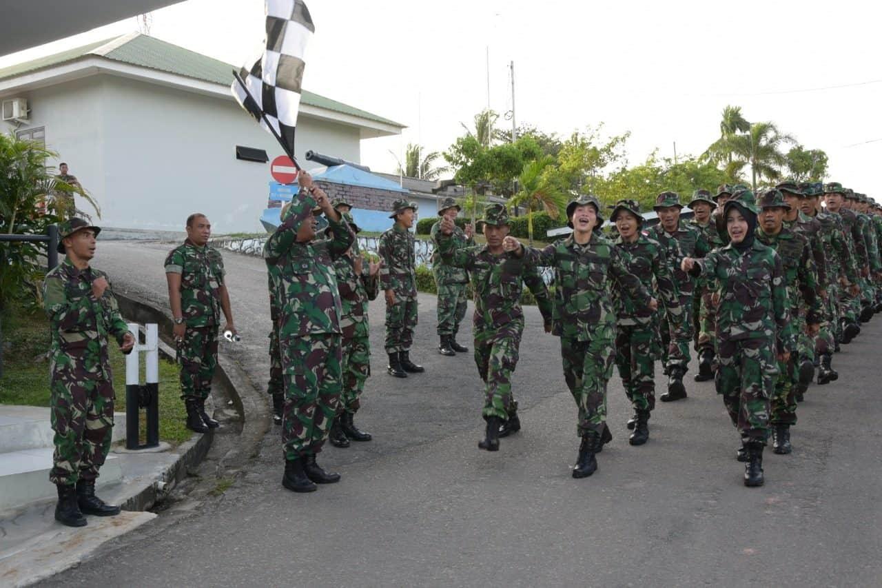 Latihan Hanmars Akhiri Kegiatan Minggu Militer Prajurit Lanud Raja Haji Fisabilillah
