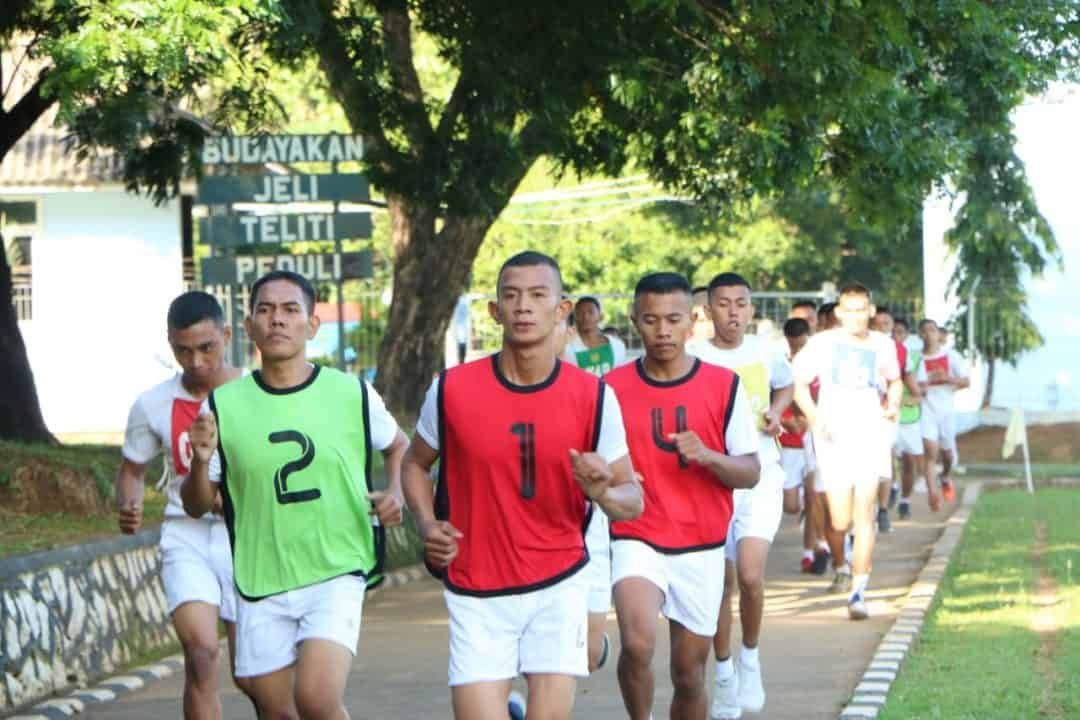 Tes Samapta Calon Tamtama PK TNI AU Gelombang I Tahun 2020 di Lanud Sultan Hasanuddin