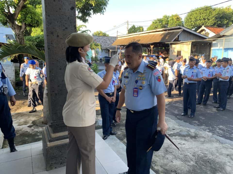 Danlanud I Gusti Ngurah Rai : TNI Garda Terdepan Perangi Corona Virus