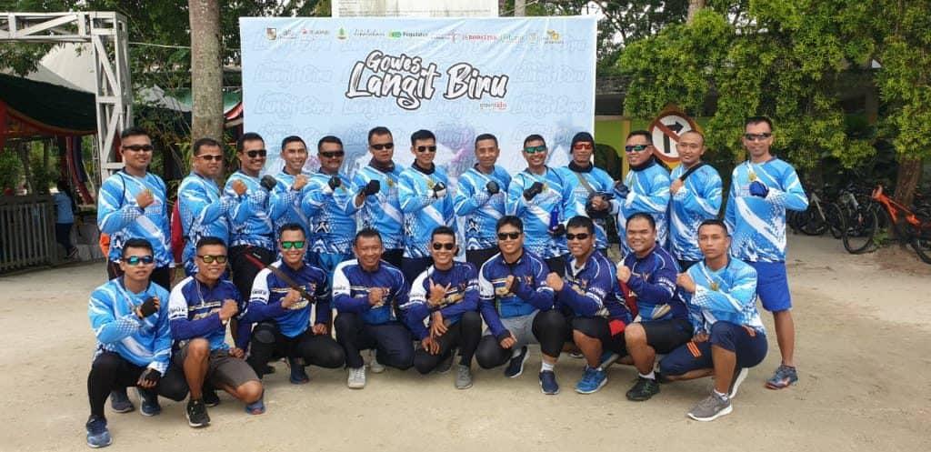 Roesmin Bike Community Ikuti Gowes Langit Biru, Riau Tanpa Asap
