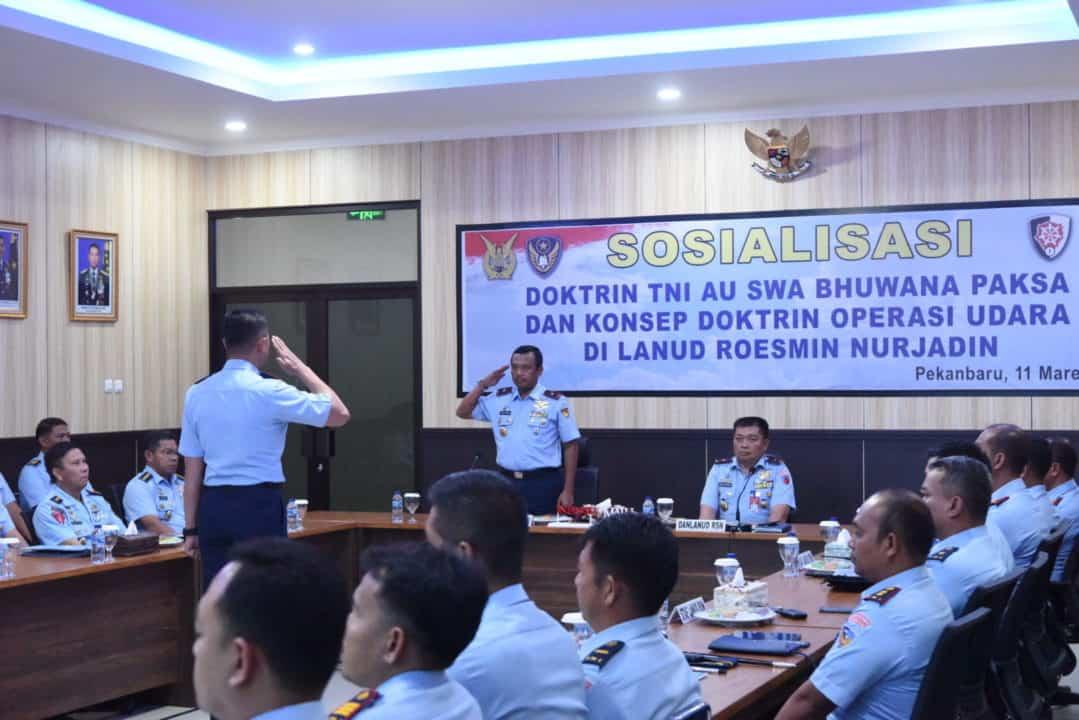 Sosialisasi Doktrin TNI AU SBP dan Konsep Doktrin Operasi Udara di Lanud Rsn