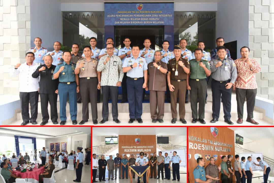 Komitmen TNI AU Roesmin Nurjadin Dalam Program Pencanangan Zona Integritas