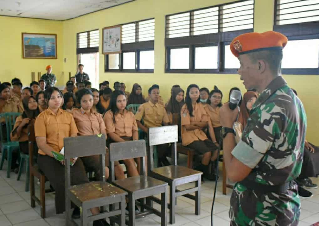 SatgasPamrahwan Yonko 462 Paskhas Gelar Sosialisasi Bela Negara