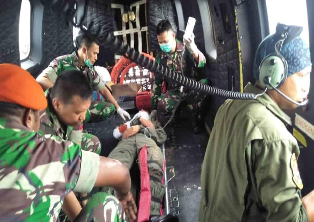 Batalyon Komando 462 Paskhas Pulanggeni Laksanakan Latihan Simulasi Sarpur
