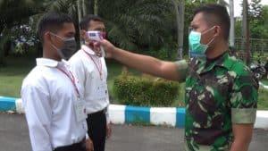Lanud Supadio Gencar Sosialisasikan Social Distancing