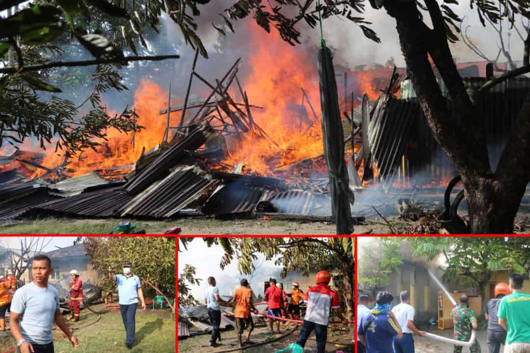 Danlanud Rsn Bantu Padamkan Kebakaran Rumah Warga