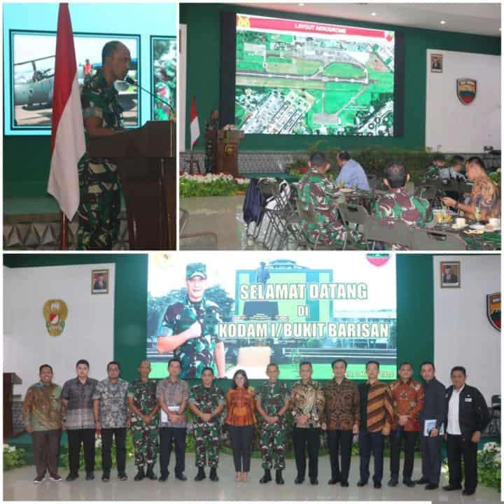 Danlanud Soewondo Dampingi Pangdam I/BB Menerima Kunjungan Kerja Komisi I DPR RI Di Provinsi Sumatera Utara