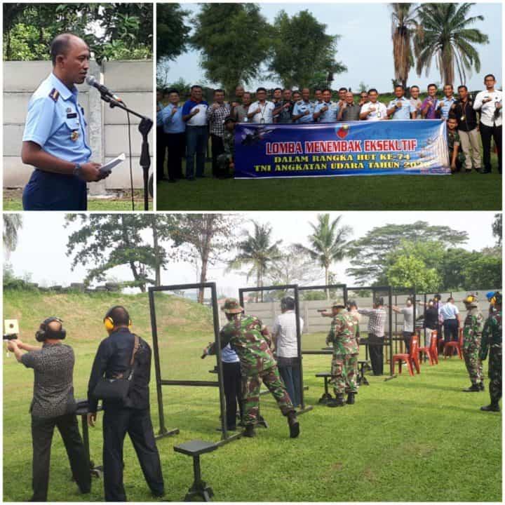 Sambut HUT Ke-74 TNI AU, Lanud Soewondo Gelar Lomba Tembak Eksekutif