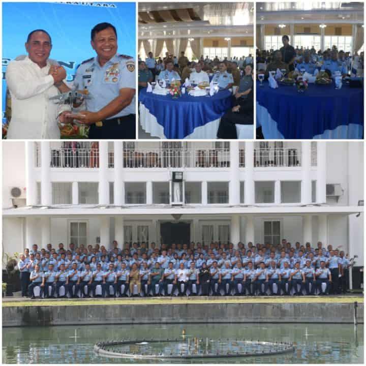 KKDN Pasis Seskoau dan KK Jemen Pasis Sesau Disambut Hangat Gubernur Sumatera Utara