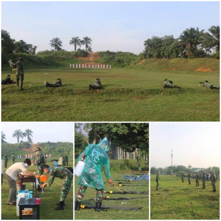 Tingkatkan Kemampuan Dan Keterampilan, Personel Lanud Soewondo Latihan Menembak