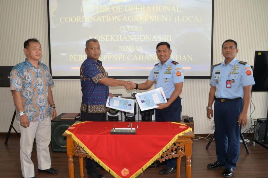 Nota Kesepahaman Kerjasama Kosekhanudnas III dengan LPPNPI