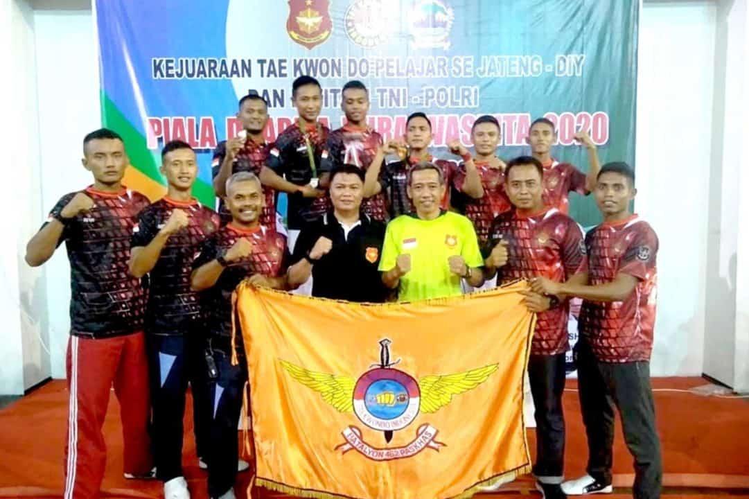 Yonko 462 Paskhas Raih Juara Umum Dua Pada Kejuaraan Taekwondo Pangdam IV/Diponegoro