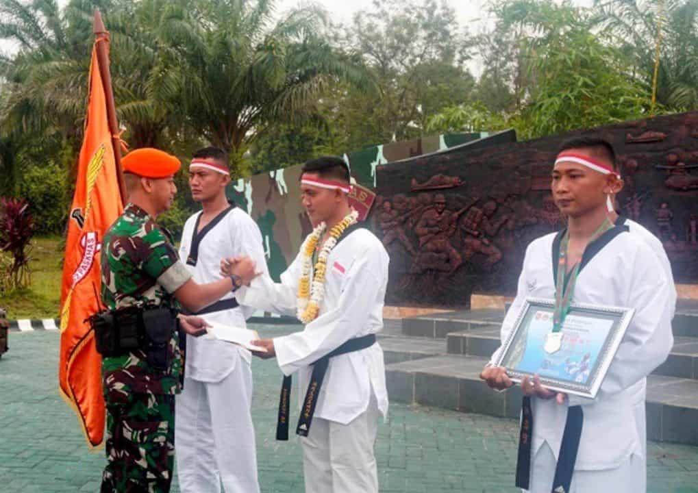 Raih Juara Umum II, Yonko 462 Paskhas Sambut tim Pulanggeni Figther