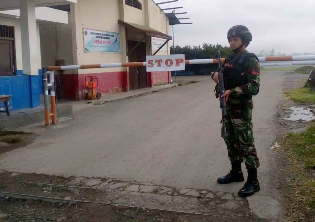 Satgas Pamrahwan Yonko 462 Paskhas Pos Bandara Wamena Antisipasi Demo Di Bandara Wamena