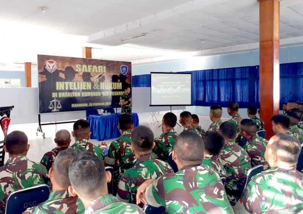 Batalyon Komando 462 Paskhas Ikuti Safari Intelijen Dan Hukum