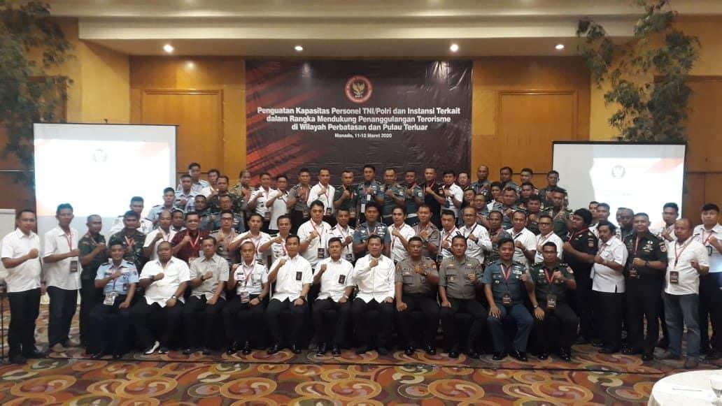 Lanud Sam Ratulangi Ikut workshop Penguatan Kapasitas TNI-Polri Dan Instansi Terkait Dalam Mendukung Penanggulangan Terorisme Di Wilayah Perbatasan Dan Pulau Terluar
