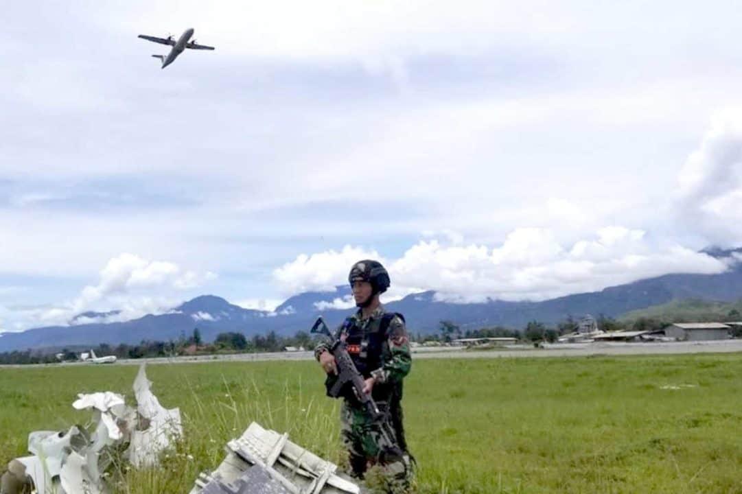 Satgas Pamrahwan Yonko 462 Paskhas Pos Wamena Laksanakan Pengamanan Kuker MPR Dan DPR RI