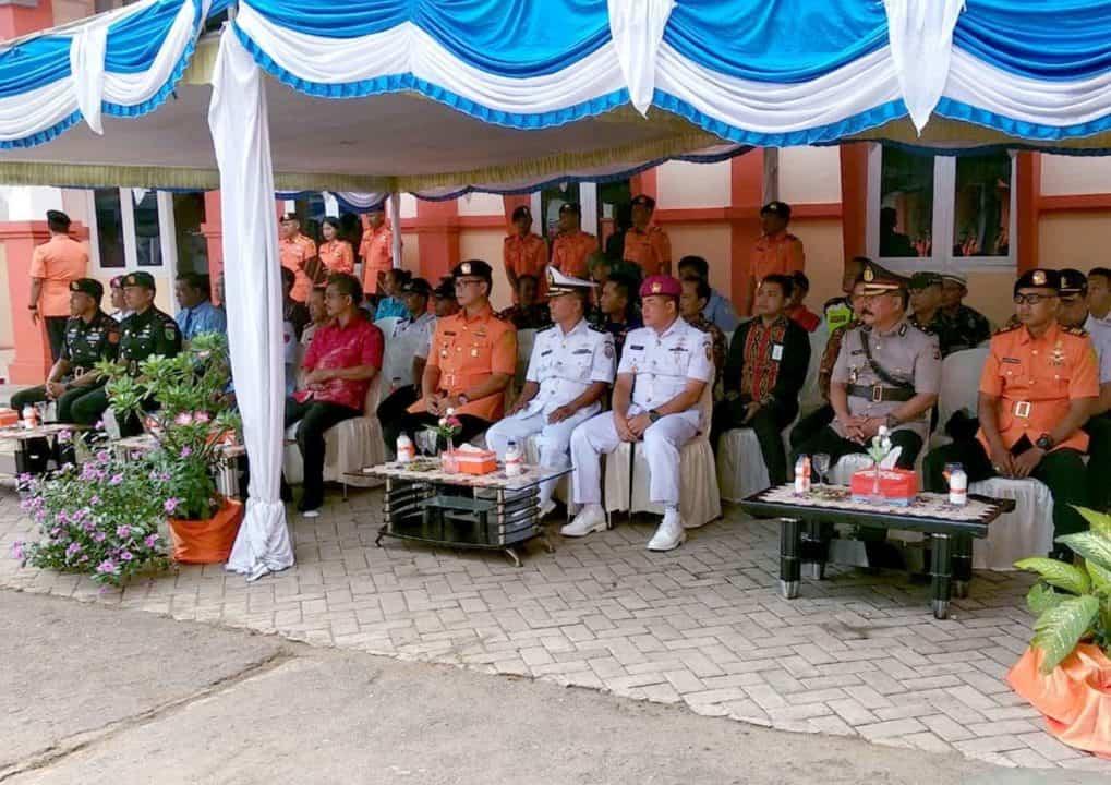 Satgas Pamrahwan Yonko 462 Paskhas Pos MerauKe Mengikuti Upacara Hut Basarnas Bandara Mopah Merauke