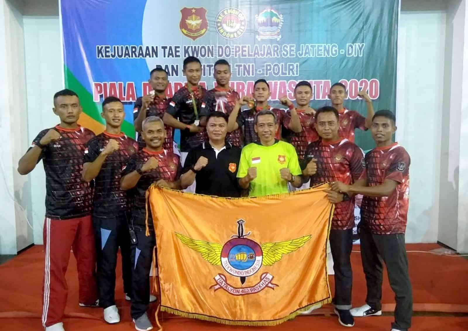 Yonko 462 Paskhas Raih Juara Umum Dua Pada Kejuaraan Taekwondo Pangdam IV/ Diponegoro