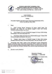 Antisipasi Penyebaran Covid-19, IOPC Dan Kasau Cup 2020 Ditunda