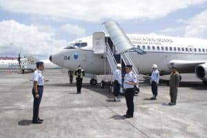 Kuker Di Lanud Sri, Pangkoopsau II Koordinasi Dengan Gubernur Sulut