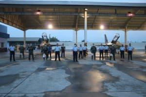 Tuntaskan Operasi Udara dan Latihan di Papua, Satu Flight Pesawat Tempur T-50i Golden Eagle Kembali ke Lanud Iswahjudi