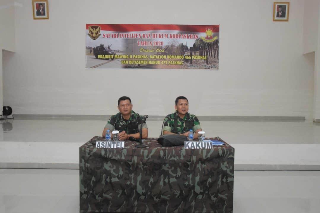 Safari Intelijen dan Hukum Korpaskhas Di Jajaran Wing II Paskhas Wilayah Makassar
