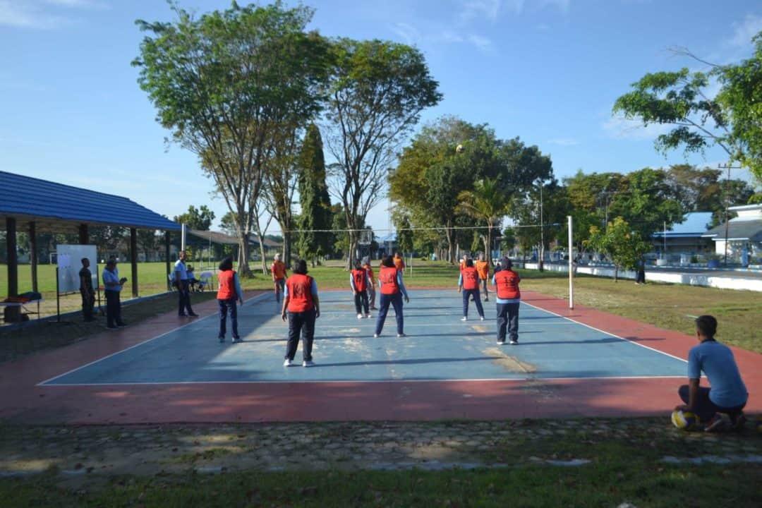 Pertandingan Bola Volly Antar Satker Dalam Rangka Memperingati HUT TNI AU ke 74 di Lanud SAM