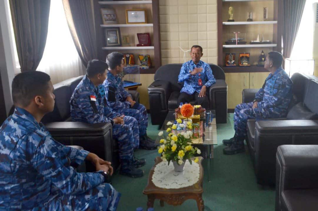 Courtesy Call Komandan Lanud Sjamsudin Noor ke Bupati Tanah Laut dan Kepala BPN Tanah Laut