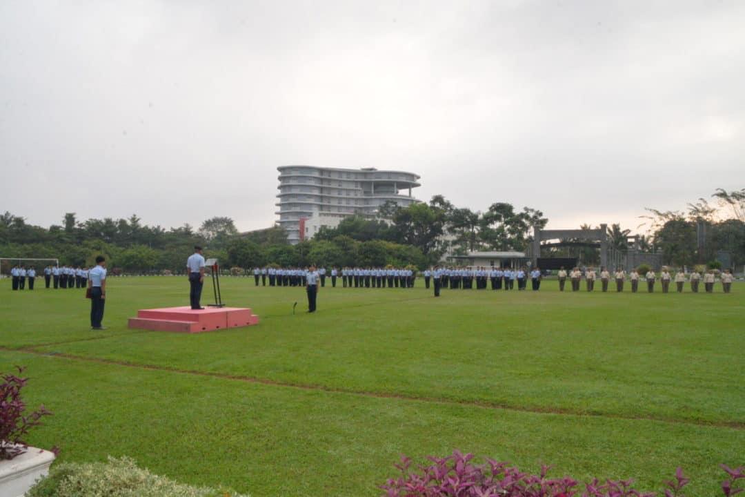 Askomlek Kosekhanudnas III Pimpin Upacara Bendera di Makosekhanudnas III